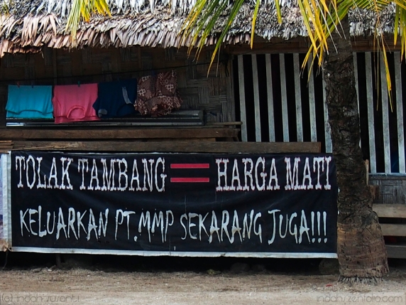 Against Mining Banner in Bangka Island
