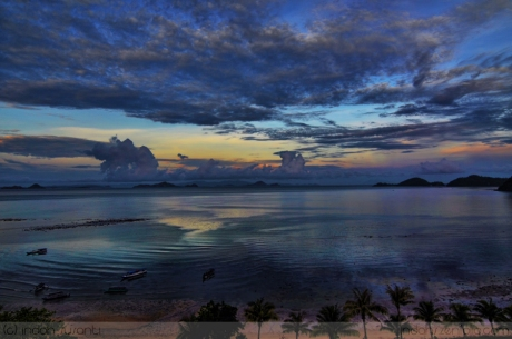 Sunrise view from Labuan Bajo