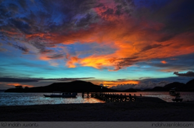 Sunset in Sebayur Island