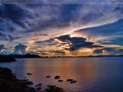 Sunset from Labuan Bajo