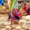 Indian woman at vegetablemarket