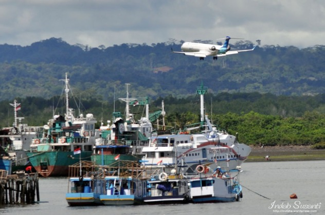 View from Sorong Port