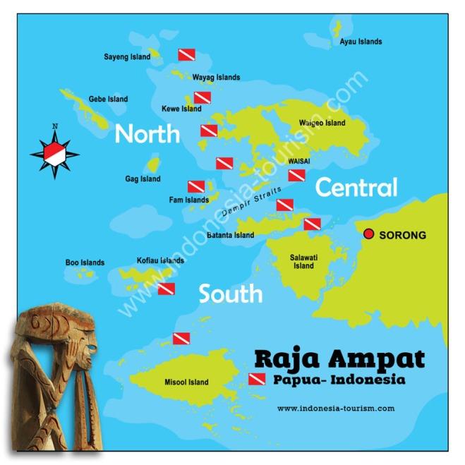 Map area Raja Ampat