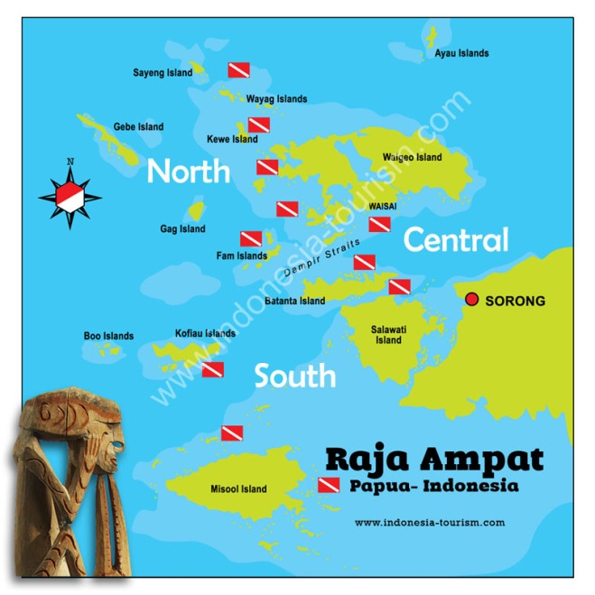 Map area Raja Ampat