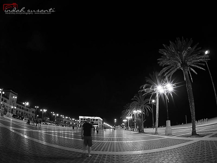 Valencia Beach at Night