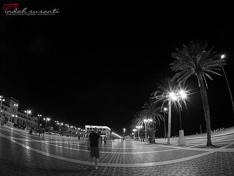 Valencia Beach at Night
