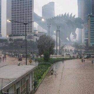 Godzilla in 2015 Flooding (Source: Social Media)