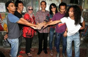Jokowi with Slank Rock Band