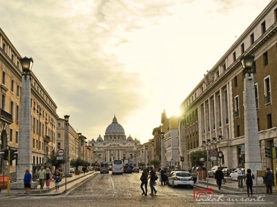 St. Peter's Basilica from Piazza Pia