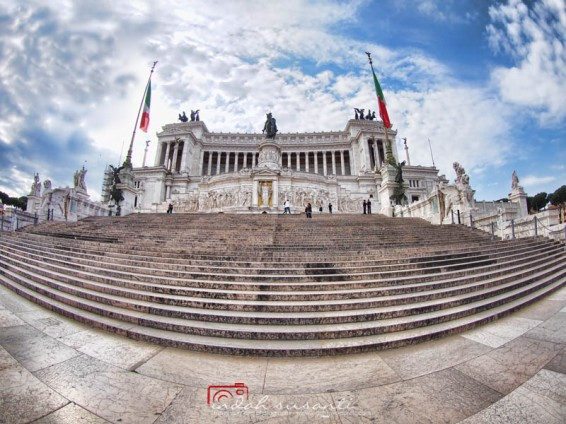 With fisheye lens: Altar of the Fatherland