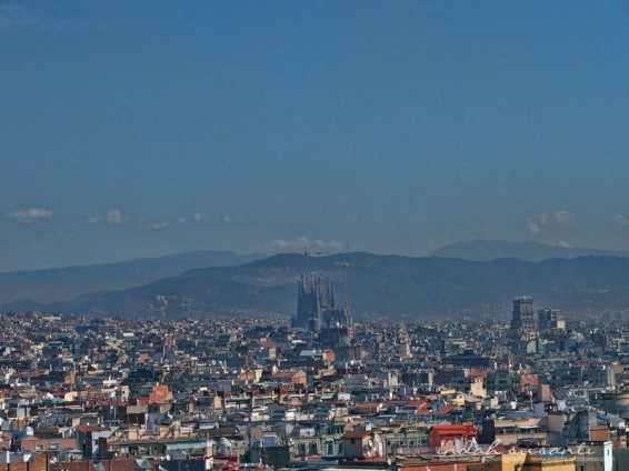 View of Barcelona from Montjuïc Hill