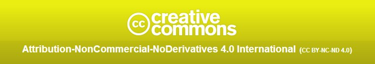 Attribution-NonCommercial-NoDerivatives
