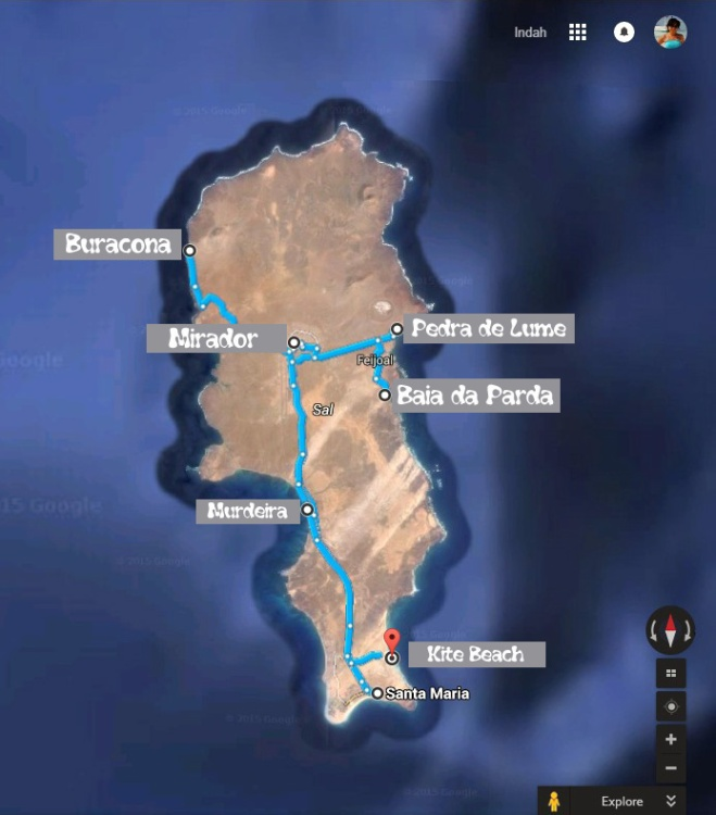 Sal Island Map wordpress