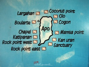 Dive Site Map of Apo Island