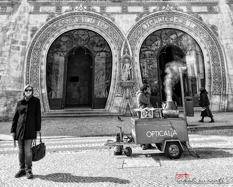 Street Scene of Lisbon