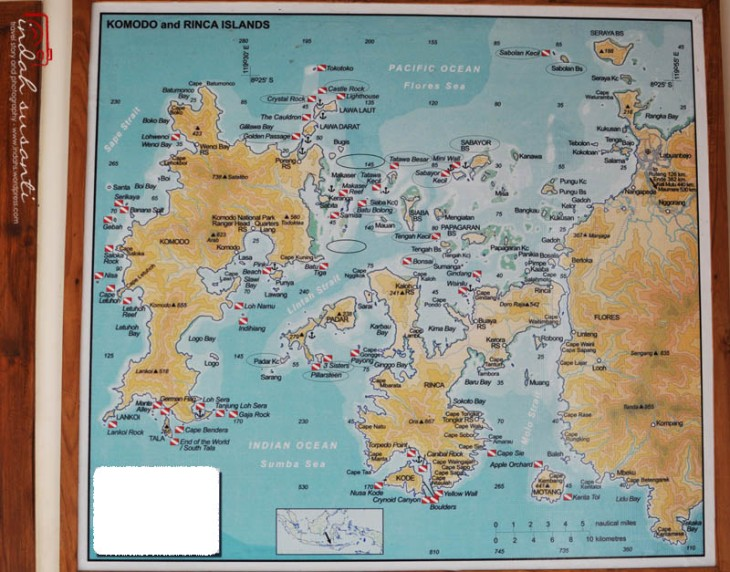 Dive Site Map (the circled ones meant we have visited the dive site)