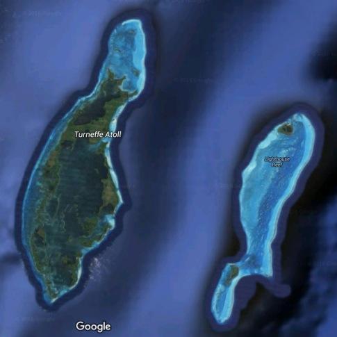 Turneffe Atoll Map