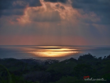 Sunset from the hills of Uvita