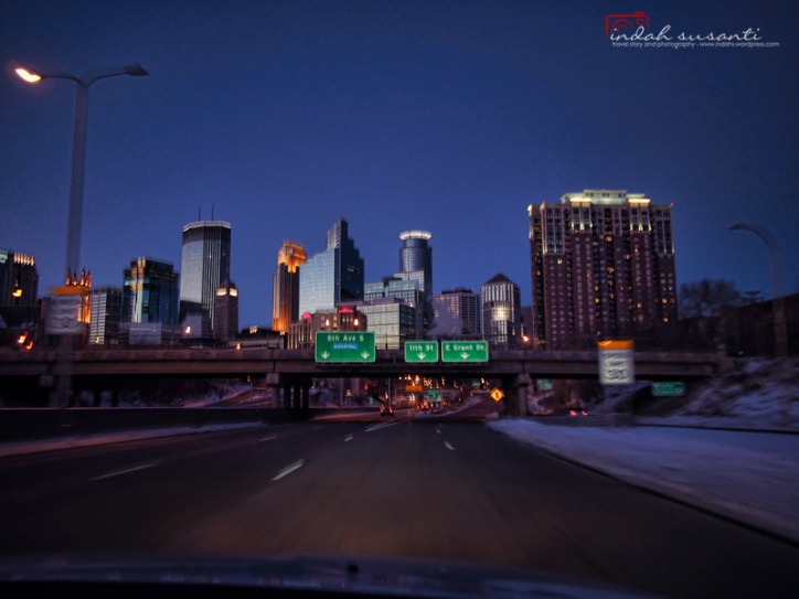 Entering Minneapolis