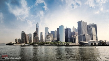 Manhattan view from the ferry