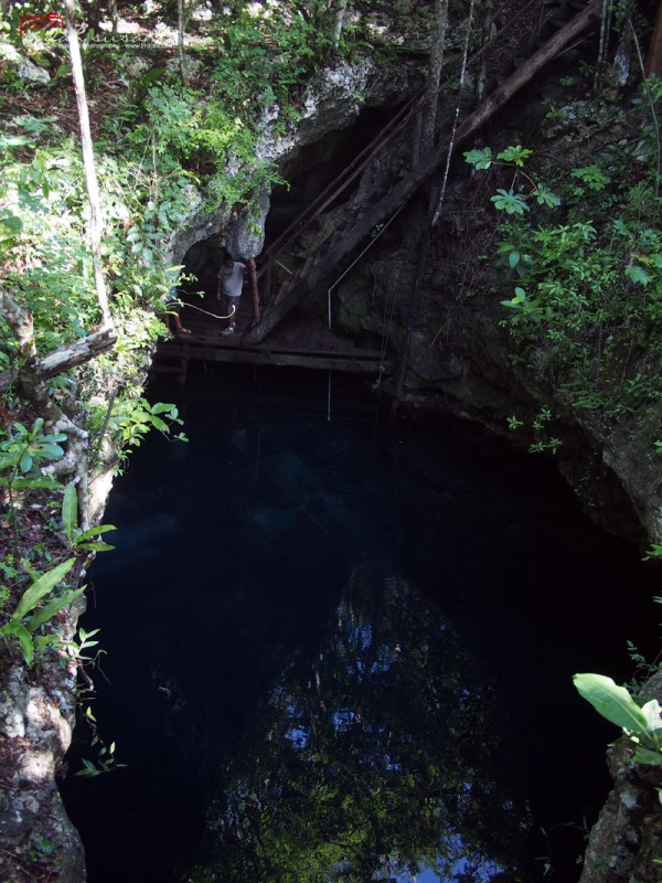 El Pit Cenote from Above
