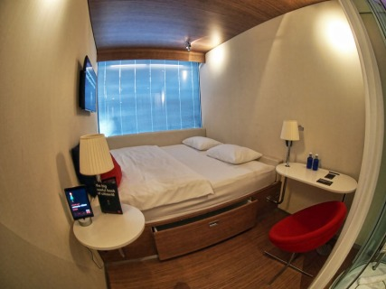 Bed and Study Desk - CitizenM Amsterdam