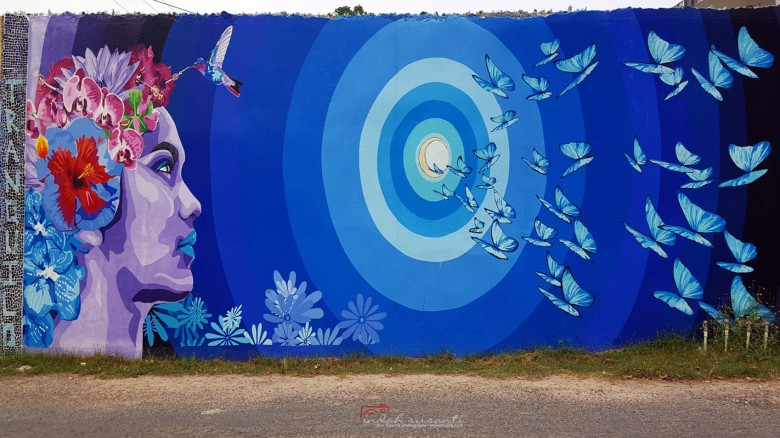 Mural in San Ignacio: A Painted Conversation