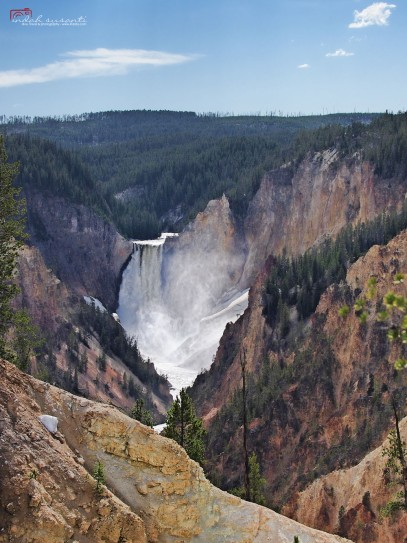 Waterfalls - Upper Falls of the Yellowstone Artist Point